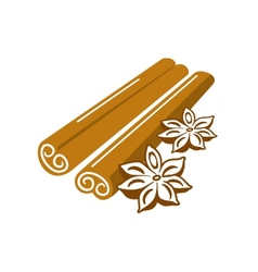 Cinnamon and anise vector