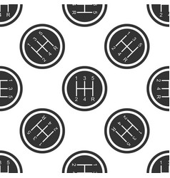 Gear shifter seamless pattern transmission icon vector
