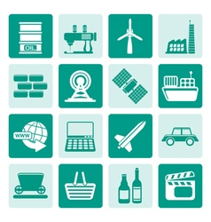 One tone Simple Business and industry icons vector image