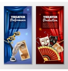 Theatre Banners Set vector image vector image