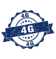 4g stamp sign seal vector
