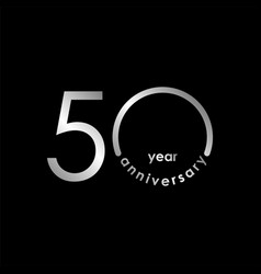 50 year anniversary template design vector image