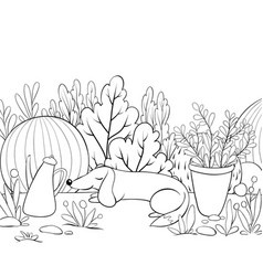 a children coloring bookpage a sleeping dog on vector image