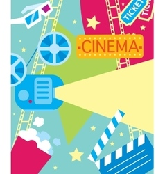 Abstract cinema poster vector image