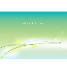 Abstract green template vector image
