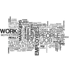 Are happy employees motivated employees text word vector