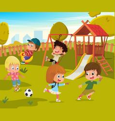 Baby playground summer park vector