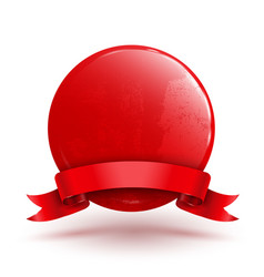 badge circle with red ribbon vector image
