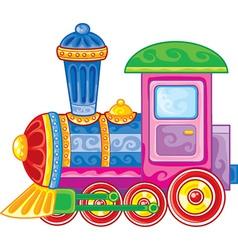 Bright cheerful locomotive vector
