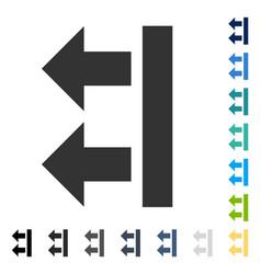 Bring left icon vector