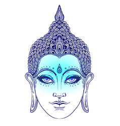 Buddha face esoteric vintage vector