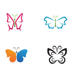 butterfly beauty logo simple colorful icon logo vector image