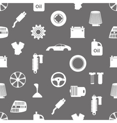 Car parts store simple icons seamless pattern vector