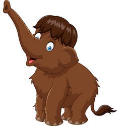 cartoon happy mammoth vector image