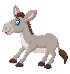 Cartoon of a happy donkey vector image