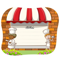 Chefs and menu vector image