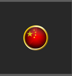 china flag logo round 3d prc icon glossy glass vector image