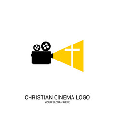 christian cinema logo vector image