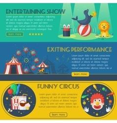 Circus banner set vector