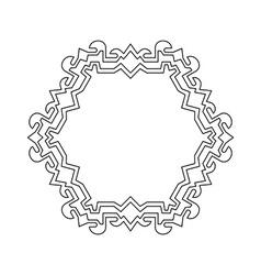 Decorative ornate Frame Border vector image