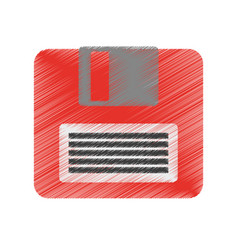 diskette or floppy disk icon image vector image