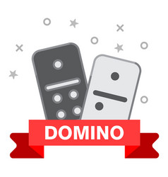 domino line icon outline of domino vector image