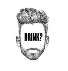 drink man thinking background image vector image