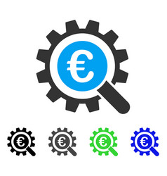 Euro search options flat icon vector