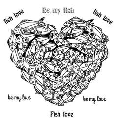 fishheart vector image