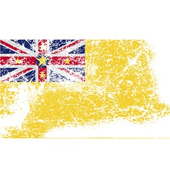 Flag of niue with old texture vector