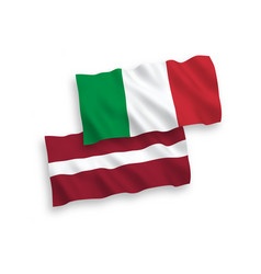 flags of italy and latvia on a white background vector image