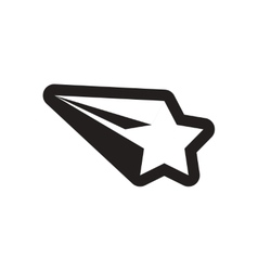 Flat icon in black and white Christmas star vector