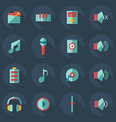 Flat modern design with shadow icons music vector