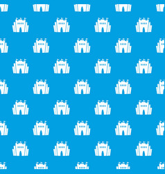 Fortress pattern seamless blue vector