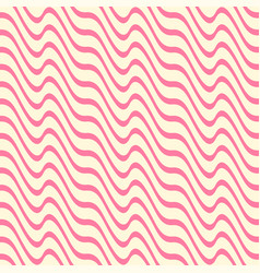 Geometric seamless pattern with ripple stripe vector