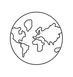 global planet vector image