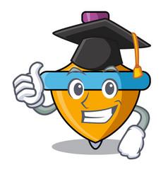 Graduation spinning top character cartoon vector
