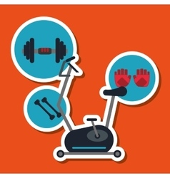 Gym and weights icon design vector image