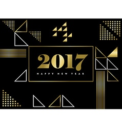 Happy New Year gold geometric shape simple design vector image vector image