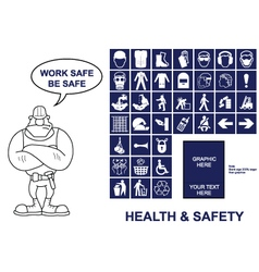 Health and Safety signs vector