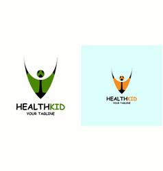 Healthy kids logo design child icon vector