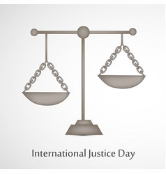International justice day text 17th july vector