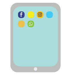 ipad on white background vector image