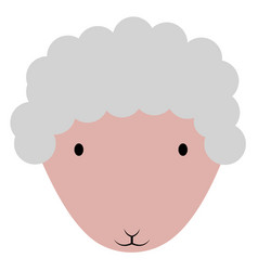 isolated cute sheep avatar vector image