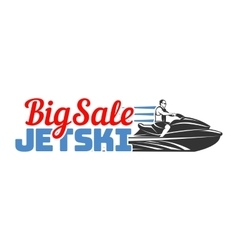 Jet Ski big sale logo badges and emblems isolated vector