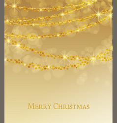 lights on golden background vector image