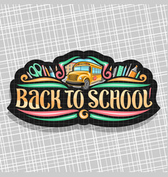 Logo for school vector