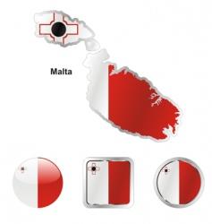 malta vector image
