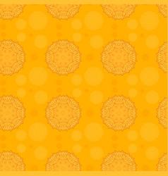 mandala patterns on orange background vector image