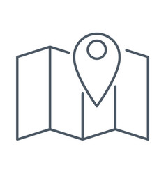 map location symbol vector image